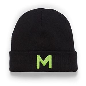*3for$30* Cotton blend 'M' beanie hat tuque NWT